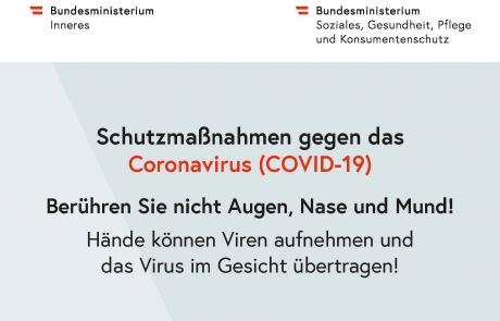 Schutzmaßnahmen gegen das Coronavirus - Augen, Nase, Mund_pdfUA