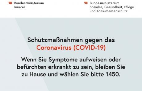 Schutzmaßnahmen gegen das Coronavirus - Gesundheitsnummer 1450_pdfUA