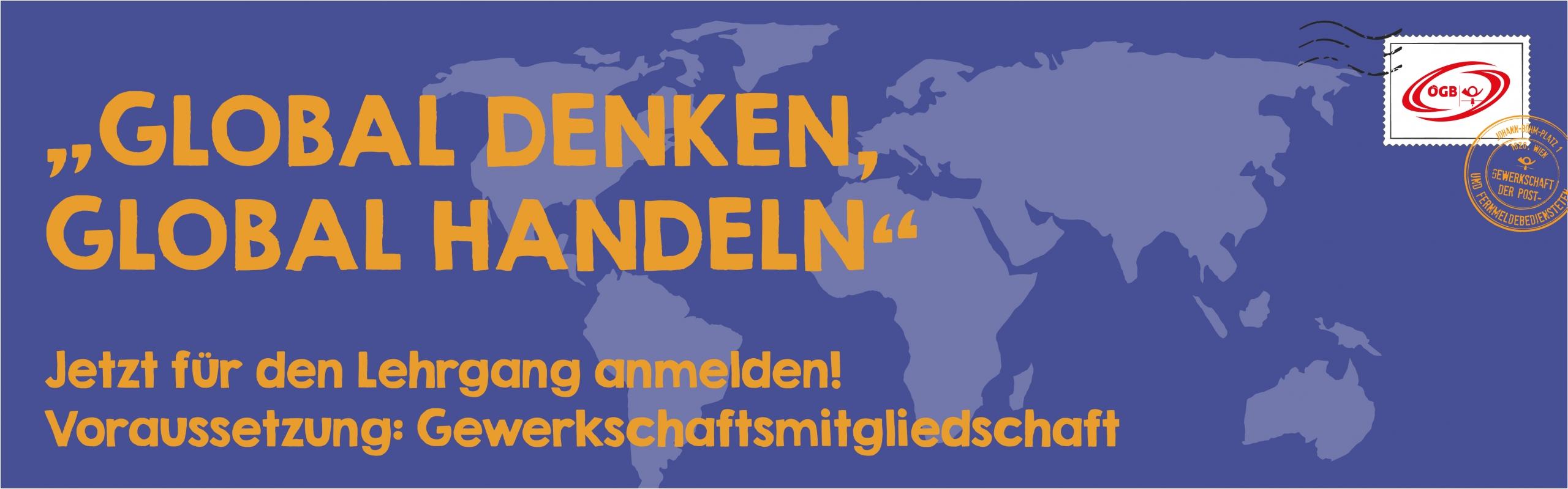 Lehrgang Global denken_global handeln_Banner