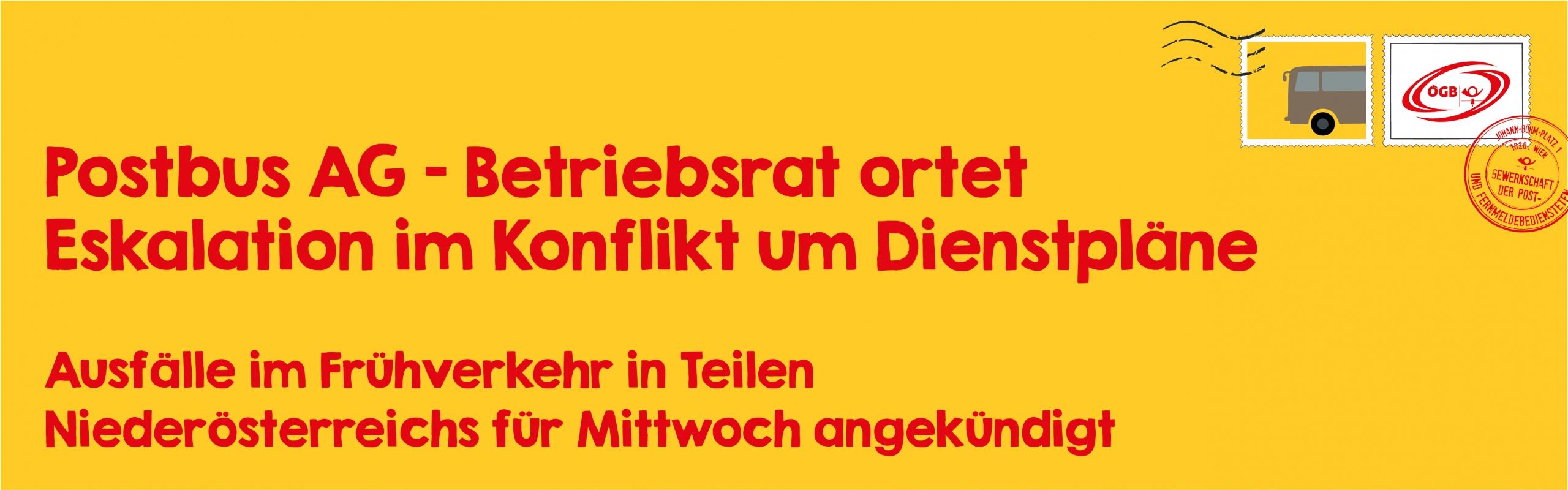 Postbus_Betriebsrat ortet Eskalation im Konflikt um Dien_Banner