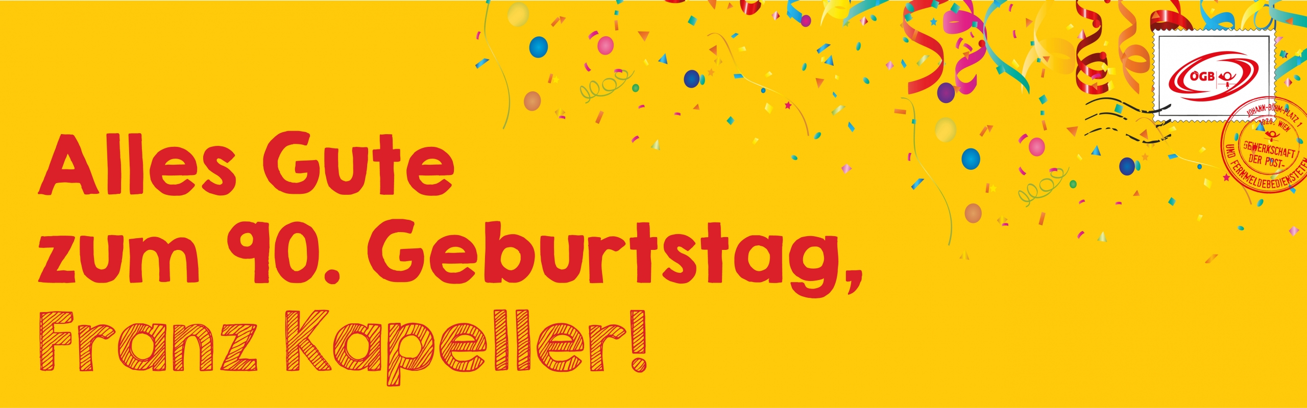 90 Geburtstag Kapeller_Banner