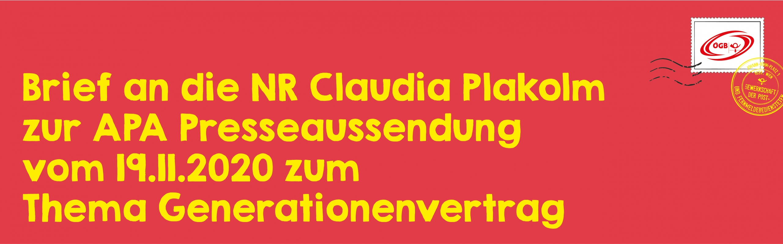 Brief an Claudia Plakolm_Banner