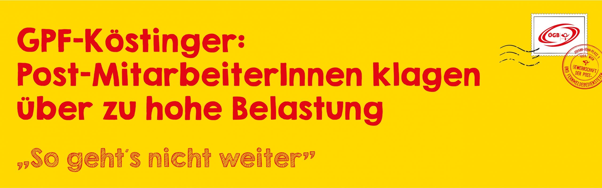 OTS Köstinger_Post-MitarbeiterInnen Belastung_Banner