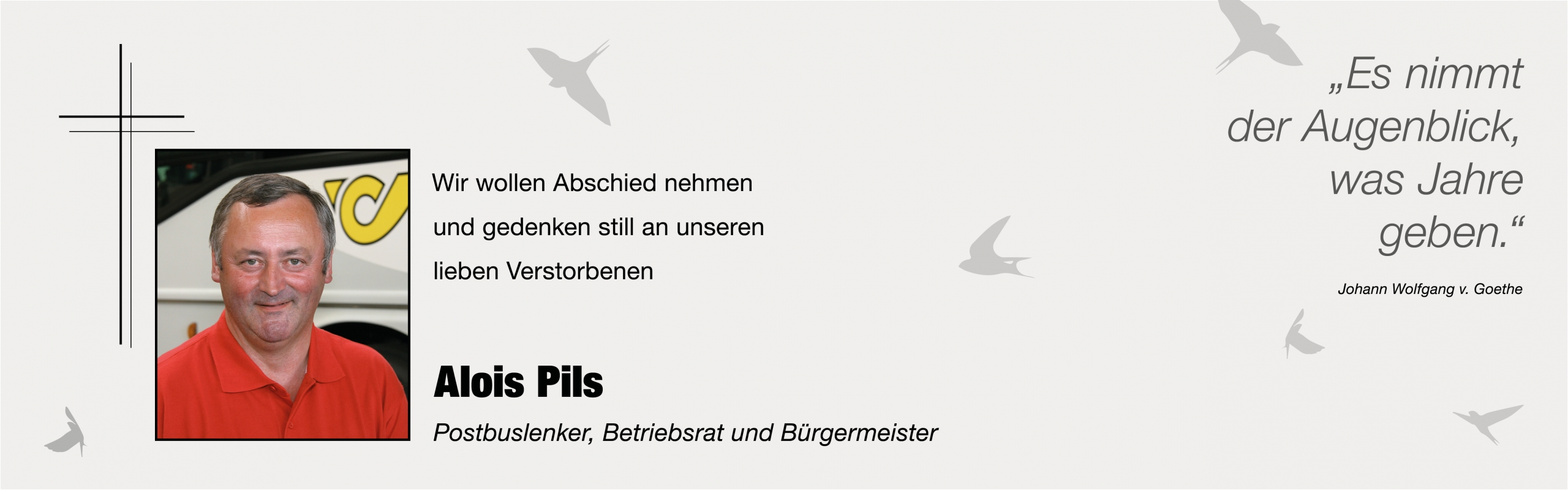 In Tiefer Trauer_Alois Pils_Banner