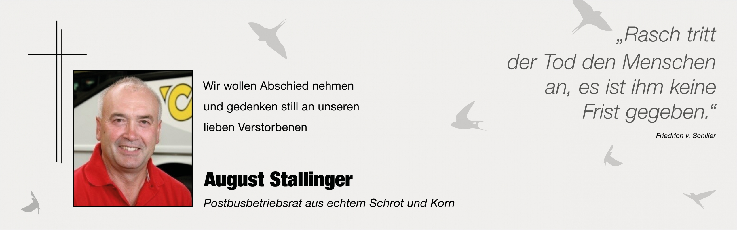 In Tiefer Trauer_August Stallinger_Banner