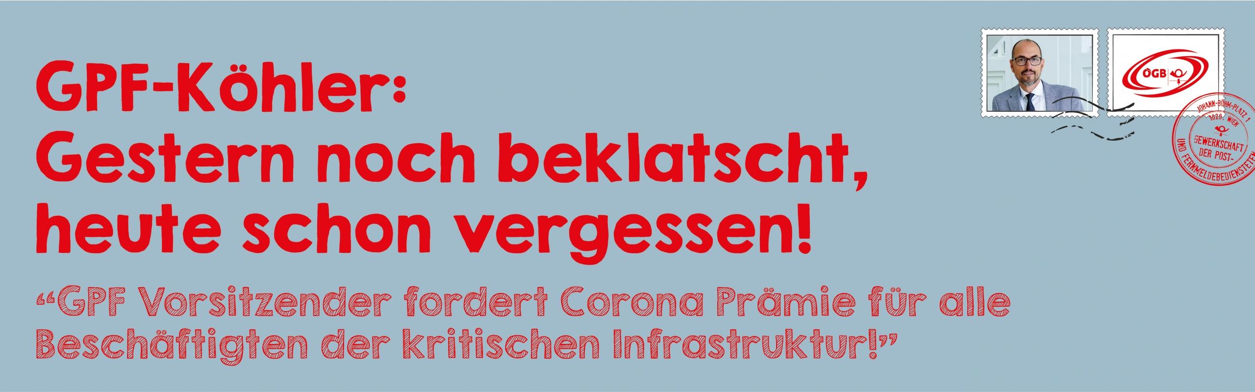 OTS Köhler_Gestern noch beklatscht, heute schon vergessen!_Banner
